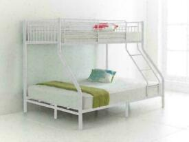 🔴QUICK DELIVERY ON DOOR STEP🔵kids bed/Trio Metal Bunk Bed Frame-optional mattress-call now