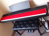 Yamaha P105 Portable Digital Piano + stand + music rest + stool + 3 pedal unit + AC adaptor + covers