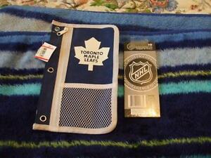 TORONTO MAPLE LEAFS PENCIL CASE AND COLORED PENCILS