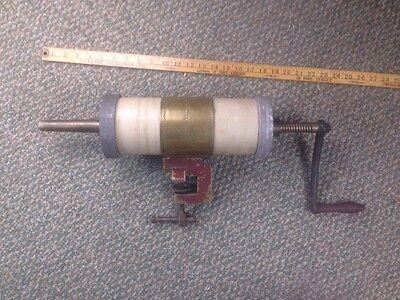 Antique Vtg Sausage Stuffer Press Commercial Brass Iron Kitchen Gadget Diy