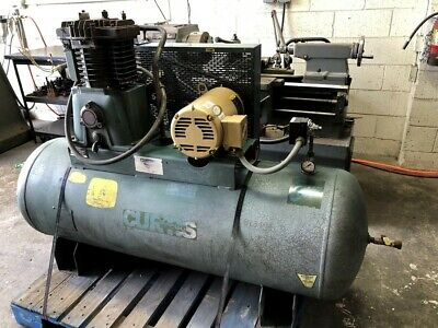 Curtis-toledo 80gal Horizontal Air Compressor 5 Hp