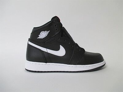 Nike Air Jordan 1 OG High Black White Red Yin Yang Grade School 6.5 575441-011
