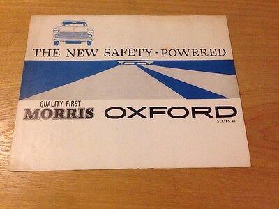Morris Oxford Seies Vl Genuine Dealership Advertising Sales Brochure 60's