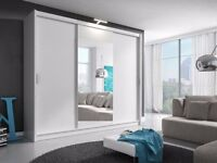 Monaco 3 Sliding Doors German Wardrobe 250cm Wide With 2 DRAWERS