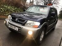 Mitsubishi Shogun, 3.2 diesel, Automatic, 2003, 4x4, PRICE NOW REDUCED ***bargain***