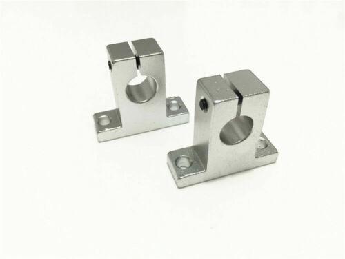 4pcs SK8 8mm Linear Guide Rail Shaft Support Bearing SH8A Aluminum CNC Parts