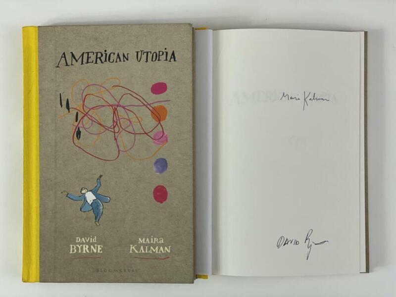 """DAVID BYRNE SIGNED AUTOGRAPH """"AMERICAN UTOPIA"""" BOOK - TALKING HEADS TRUE STORIES"""