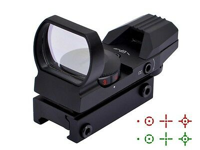 Ohuhu Field Sport Red And Green Reflex Sight W 4 Reticles Pistol Hand Gun Target