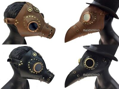 Plague Doctor Raven Bird Gas Mask Costume Cosplay Burning Man Steampunk Party