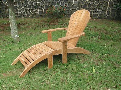 TEAK Liegestuhl - Sonnenliege - Deckchair - ADIRONDACK