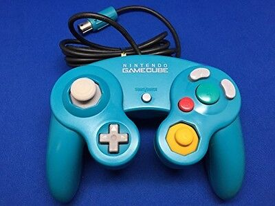 Nintendo Gamecube GC Controller Pad Emerald Blue used Japan Wii With Tracking