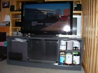 SHARP Aquos 46-in LCD HDTV with entertainment stand!!!