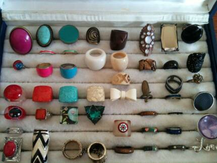 Bulk Lot 47 Pieces Costume Jewellery Rings | $20 the lot