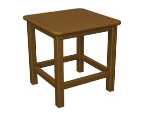 NEW POLY-WOOD SH18TE Seashell 18 Side Table in Teak Condtion: New