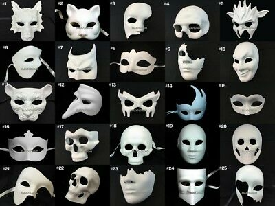 Bulk Blank DIY Unpaint Masquerade Ball Mask Polyresin Base Halloween Costume