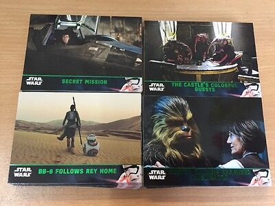 2016 Star Wars The Force Awakens Series 2 Complete Set Lightsaber Green 100 Card