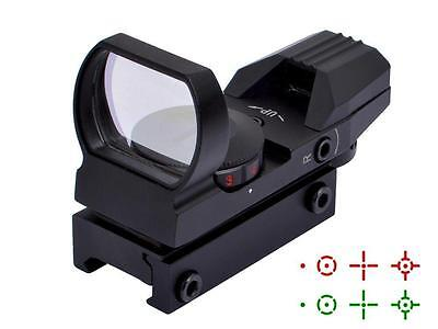 Tactical Holographic Reflex 4 Reticles Red Green Dot Sight Scope Laser Mount Gun
