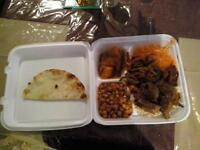 Take out Shalimar Platter with Beef Curry only for $9.99+t