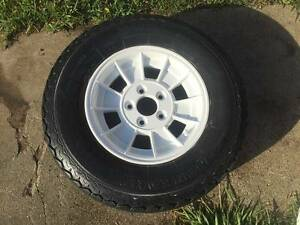 "Redco style 13"" alloy 5 stud Holden HT with light truck tyre Upper Mount Gravatt Brisbane South East Preview"