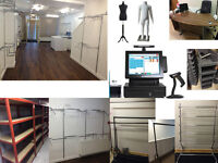 Retail Display Shop Fitting Fashion Mannequin Eposnow POS Storage Shelves Garment Clothe Rails Table