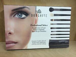 BORGHESE SET PROFESSIONAL SELECT 9 PCS. BRUSHES FACE,CHEEK & EYES INCLUDING BAG