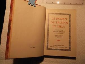 Le Roman de Tristan et Iseut renouvelé par Joseph Bédie 1934 $15