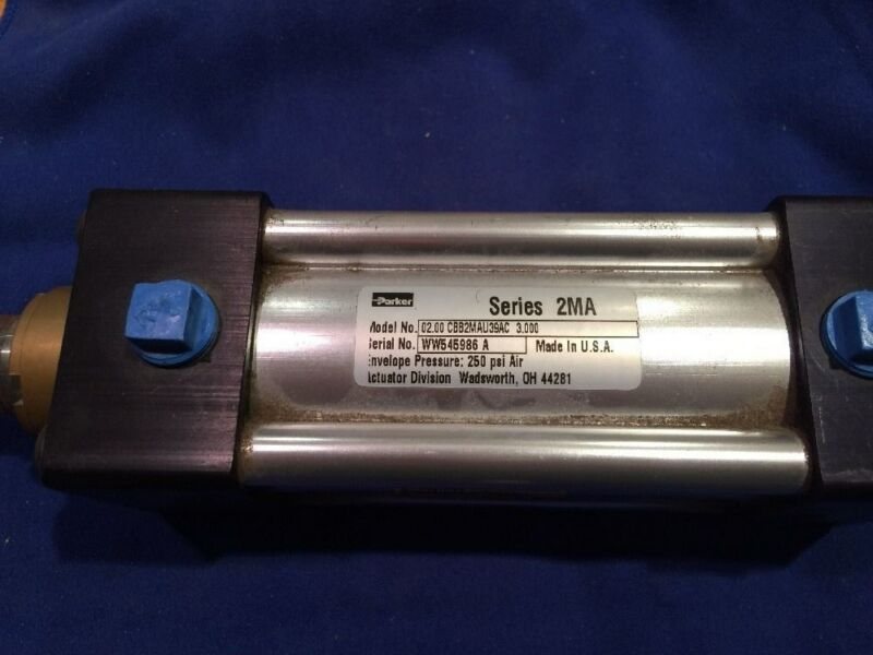 Parker Hannifin 2MA Series cylinder NFPA double acting, short female rod 250 psi