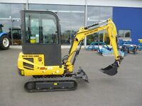 New Holland E18BSR with semi quick hitch, blade . Own for only £82 per week subject to terms.