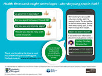 What do you think of weight-control apps? Come and tell us. £10 thank-you for taking part