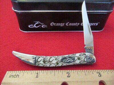 CASE XX KNIFE 2005 OCC ORANGE COUNTY CHOPPERS TINY TOOTHPICK (610096 SS) #06908 Case Orange County Choppers
