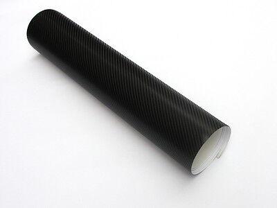 4D Struktur Carbonfolie Schwarz 152 cm x 20 Meter Blasenfrei mit Luftkanäle