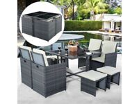 *FAST AND FREE DELIVERY* 9 Piece Rattan Garden Outdoor Furniture Set - BRAND NEW