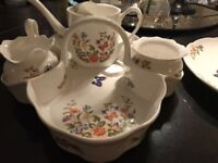 Aynsley bone china cottage garden Afternoon Tea Set - pristine