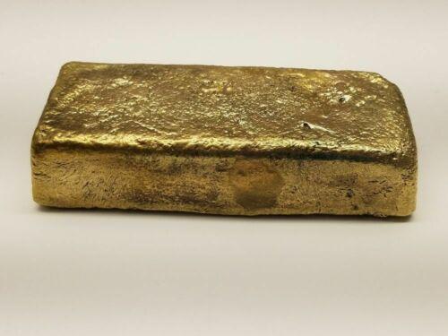 1 pound yellow brass hand poured ingots