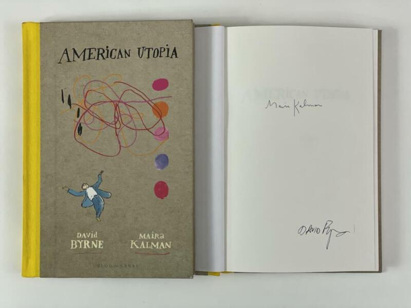 """DAVID BYRNE SIGNED AUTOGRAPH """"AMERICAN UTOPIA"""" BOOK - TALKING HEADS FRONTMAN"""