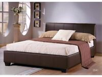 **SALE**5FT KING SIZE LEATHER BED WITH 110% MEMORY FOAM SPRUNG MATTRESS