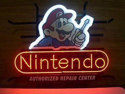 """New Nintendo Super Mario Repair Center Neon Sign 17""""x14"""""""