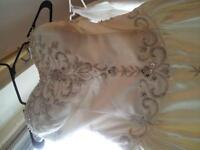 Beautiful Detailed Strapless Wedding Dress with Train size 12/14