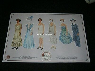 """Orig1889-1989 100 YEARS OF OREGON FASHION EVENT POSTER 20 5/8 X30 1/2""""MAKE OFFER"""