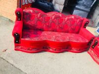 3+3 seater sofa settees in good condition free delivery