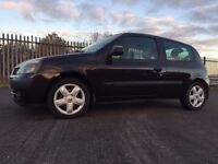 RENAULT CLIO 1.2 EXTREME*t/belt done*3DR*BLACK*95K!LOW INS*MINT!not,corsa,swift,fiesta,c2,c3,207