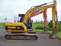JCB JS130LC, 2010, 6300hours, quick hitch, vandal guards, check valves