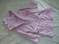 Princess Peppa Pig dressing gowns/ robes for 4-5 and 5-6 years in very good condition.