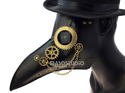 Halloween Prom (Plague Doctor Long Nose Beak Mask Costume Cosplay Dress up Halloween Prom)
