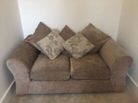 2 Mink Sofas in Excellent Condition – Collection Only