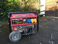 Nelson BGE6500 generator - little use - nearly new