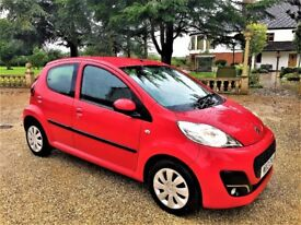 PEUGEOT 107 1.0 Active, 1 Former keeper, MOT Aug 2018, Just serviced (red) 2013