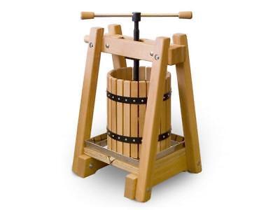 Obstpresse Weinpresse Saftpresse Apfelpresse Beerenpresse aus Holz 20 Liter