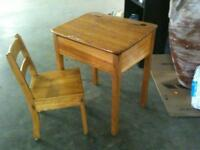 Authentic children's desk and chair