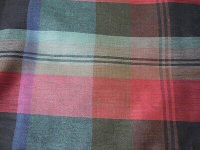 Berry Red & Green Sheen Checked Tartan effectFabric2.8mLaura Ashley ? 1980s ? Laura Ashley Plaid Quilt